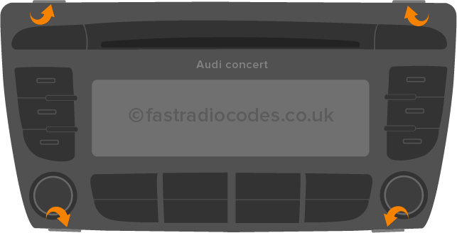 Remove Audi Radio To Find Serial
