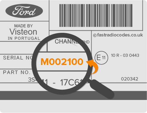 Ford M Series Serial Number